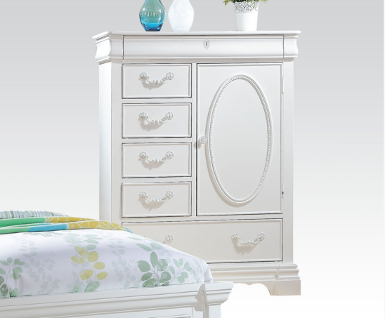 30246 Armoire Chest in White