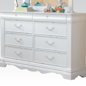 30245 double dresser in white