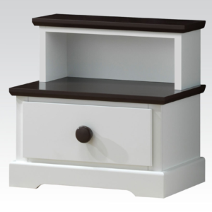 30224 nightstand in white and chocolate