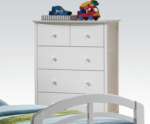09157 chest of drawers in white