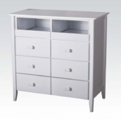 09168 TV Chest in White