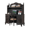1386 desk with hutch in espresso