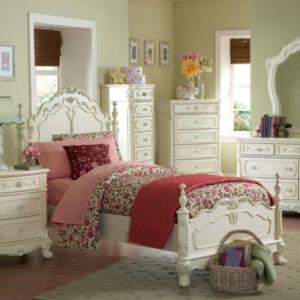 1386 princess bed in cream