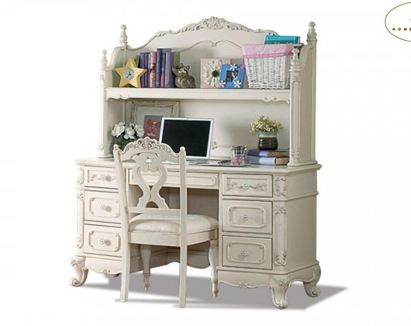 1386 desk and hutch in cream