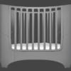 leander crib in elephant grey