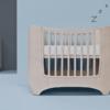 leander baby crib in white wash