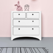 leander chest of drawers in white