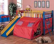 7239 multi-color loft bed with slide