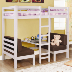 460273 twin convertible loft in white