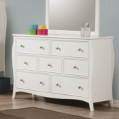 400563 7 drawer dresser in white