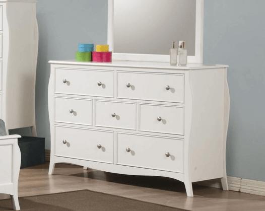 400563 7 drawer dresser in white