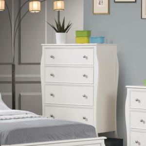 400565 4 drawer chest in white