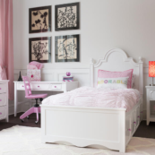 Steffie Panel Bed w/ Low Footboard