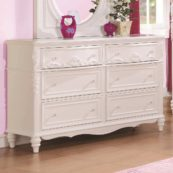 400723 double dresser in whtie