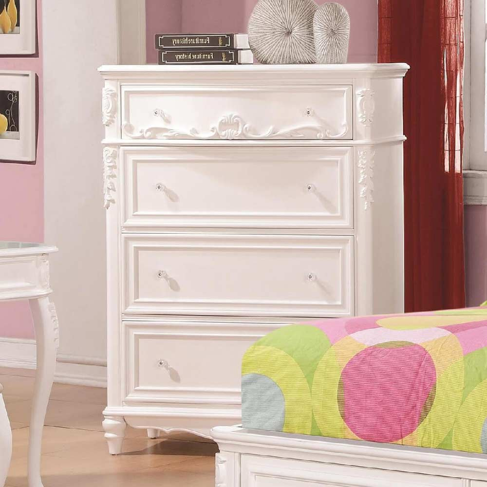400725 chest of drawers in white