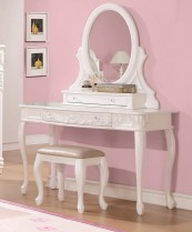 400726 vanity desk in white
