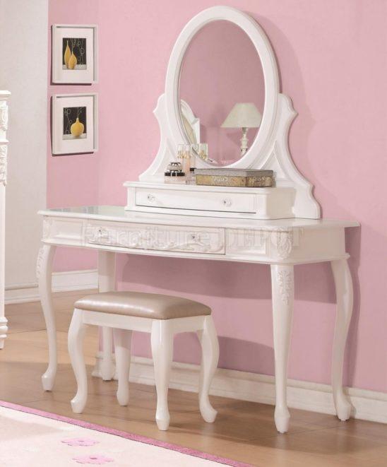 400726 vanity desk in white