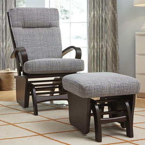 dominique glider rocker with ottoman