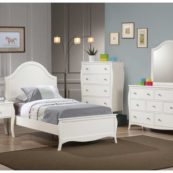 400561 curved panel bed in white