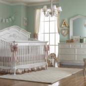 Dolce Babi Angelina Convertible Crib in Pearl