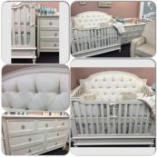 custom made tufted crib with crystals