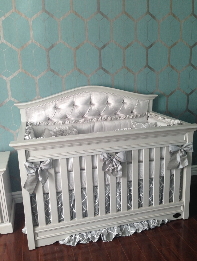 Venice Custom Tufted Convertible Crib Kids Furniture In