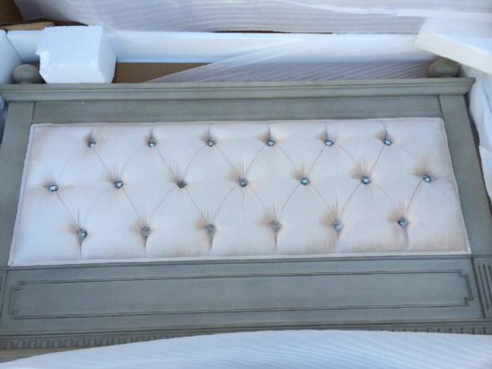 custom tufted footboard