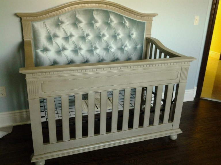 Naples Custom Tufted Convertible Crib Kids Furniture In