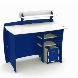 Race Car Collection Desk in Blue and White