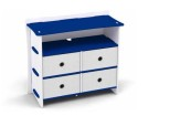 Race Car Collection Dresser in Blue and White