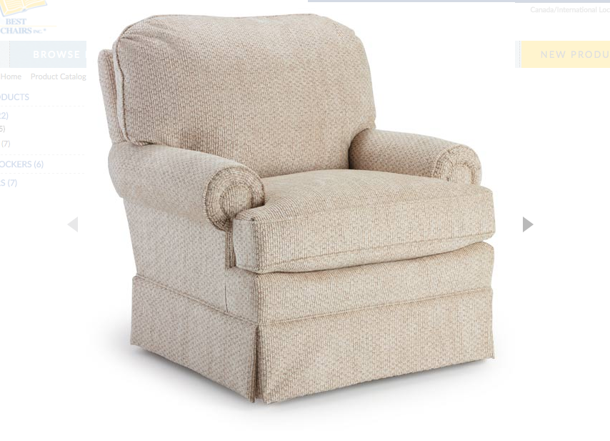 Bronx Swivel Glider Kids Furniture In Los Angeles