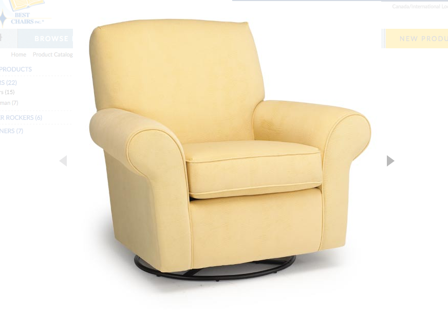 Milano Swivel Glider Kids Furniture In Los Angeles