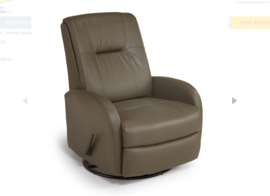 ruddick swivel glider recliner