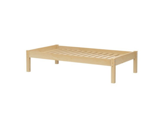 maxtrix platform bed in natural