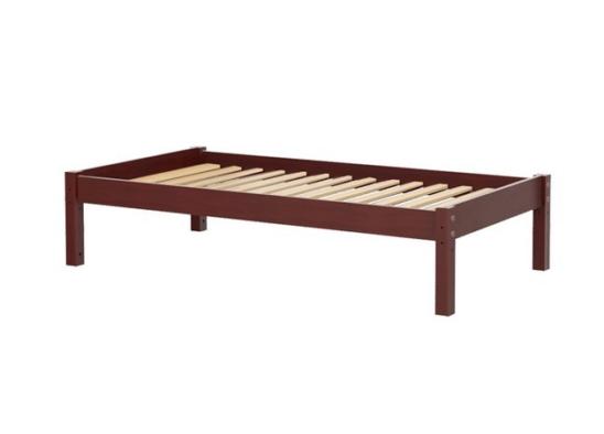 maxtrix platform bed in chestnut