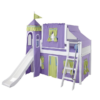 maxtirx mid loft with full tower tent in lavander and green