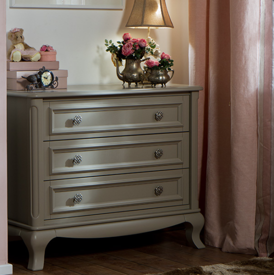 romina antonio 3 drawer dresser in sage