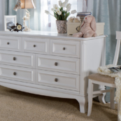 romina antonio 7 drawer dresser in white