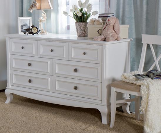 romina antonio 7 drawer dresser in white