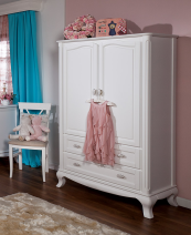 romina cleopatra armoire in white