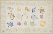 classic toys pale yellow kids rug