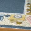 choo choo train blue kids rug