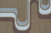 groovy stripe army green kids rug
