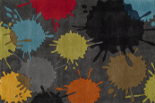 paint ball grey kids rug