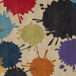 paint ball ivory kids rug