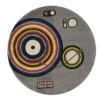 circle grey kids rug