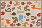 critters ivory kids rug