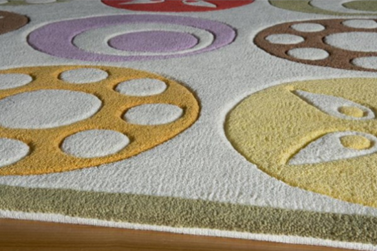 candy dots ivory kids rug