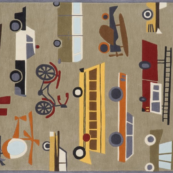 transportation concrete kids rug