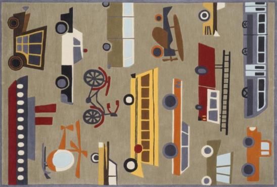transportation concrete kids rug
